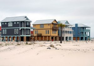 Affordable households on the beach in Florida.