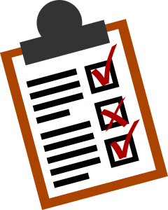 An illustration of a checklist.