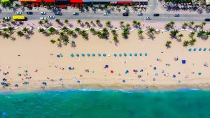 A bird's-eye view of Fort Lauderdale beach.