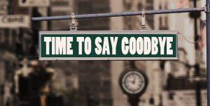 Say Goodbye Sign